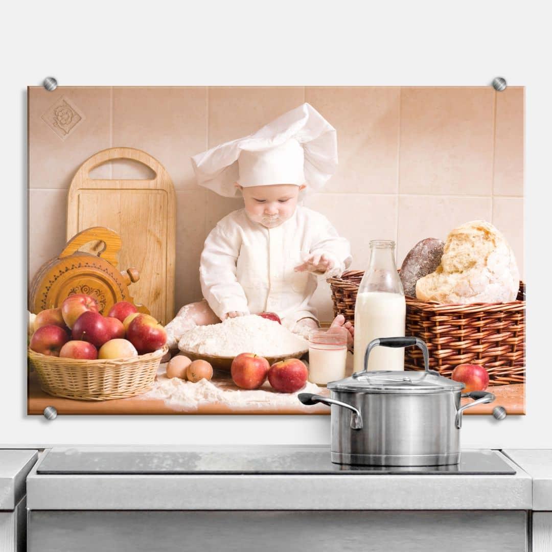professional baker kitchen splashback wall. Black Bedroom Furniture Sets. Home Design Ideas