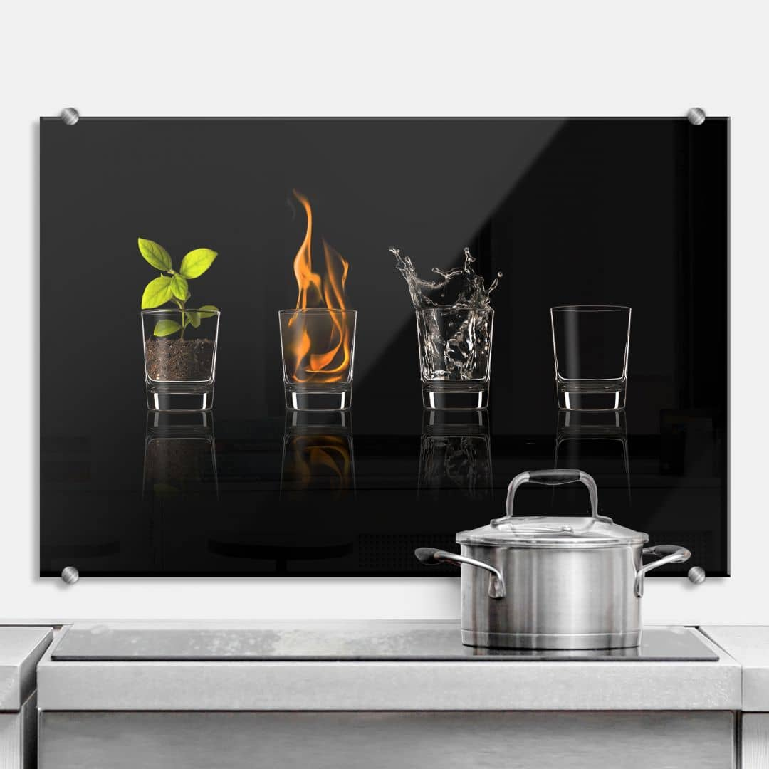 Frutos Vargas - The Four Elements - Kitchen Splashback