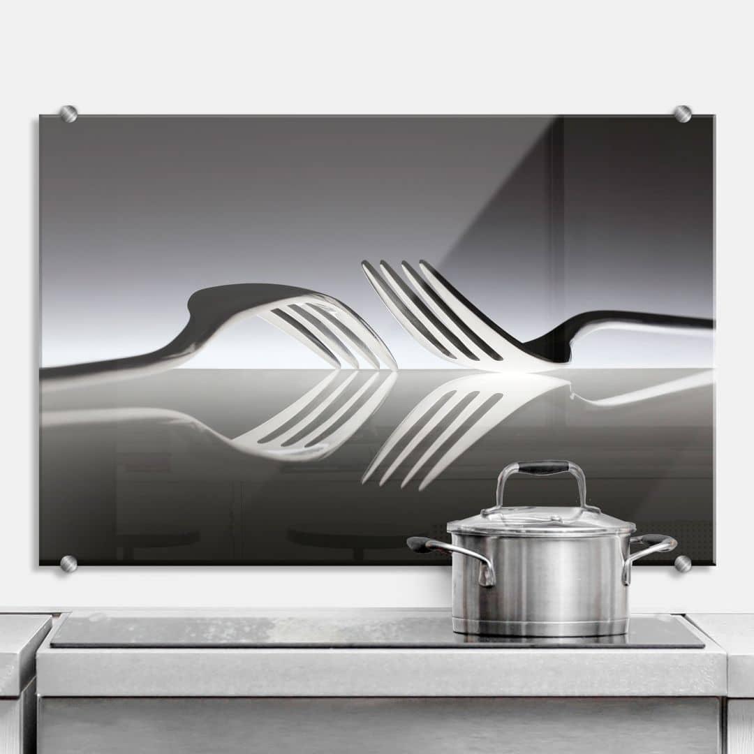 Spatscherm De Kogel - Silverware Reflection