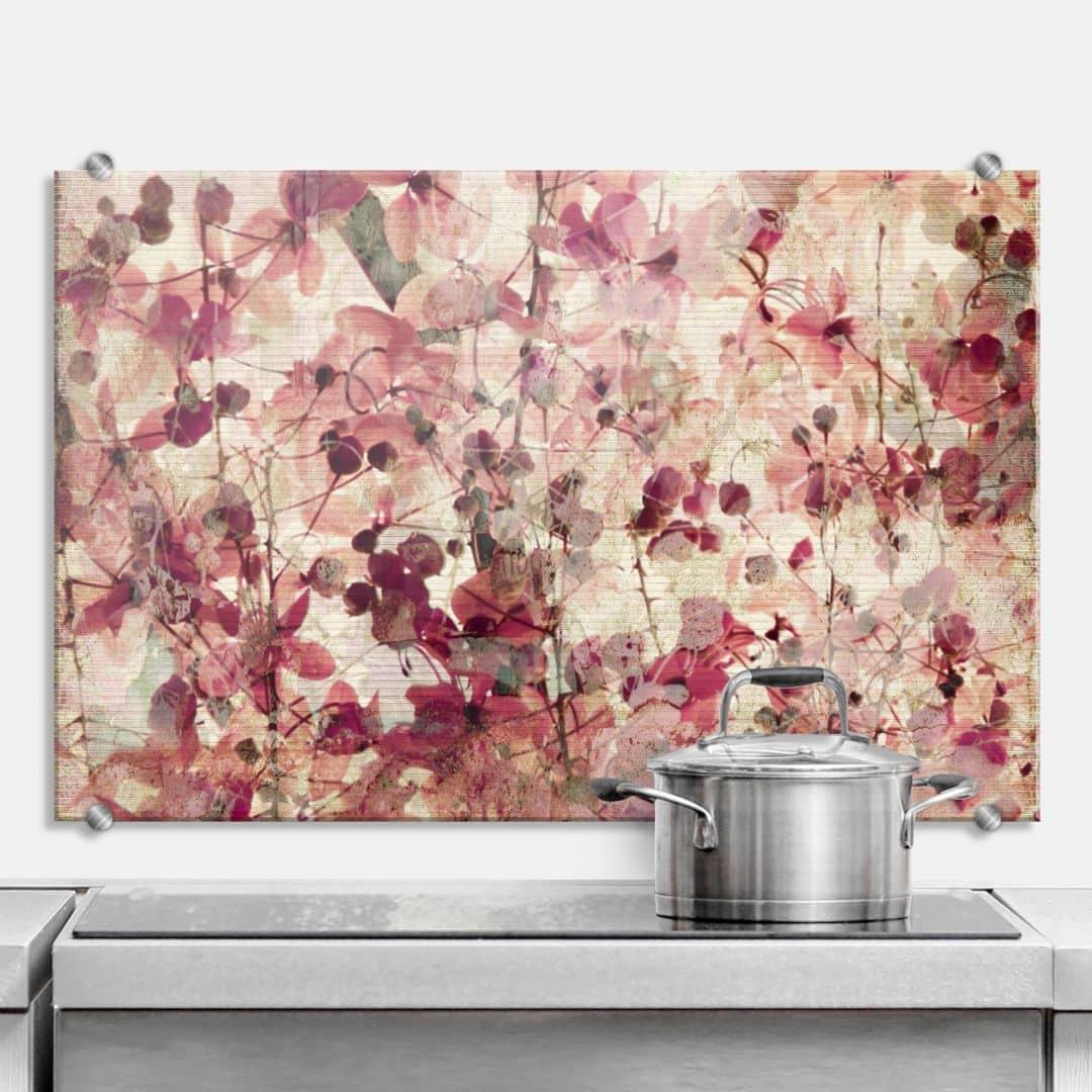 Vintage Flowers - Kitchen Splashback