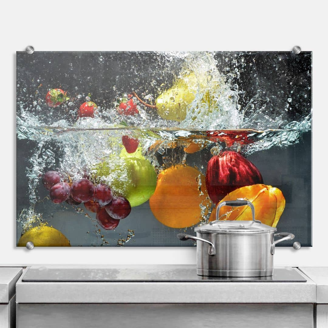 refreshing fruit kitchen splashback wall. Black Bedroom Furniture Sets. Home Design Ideas