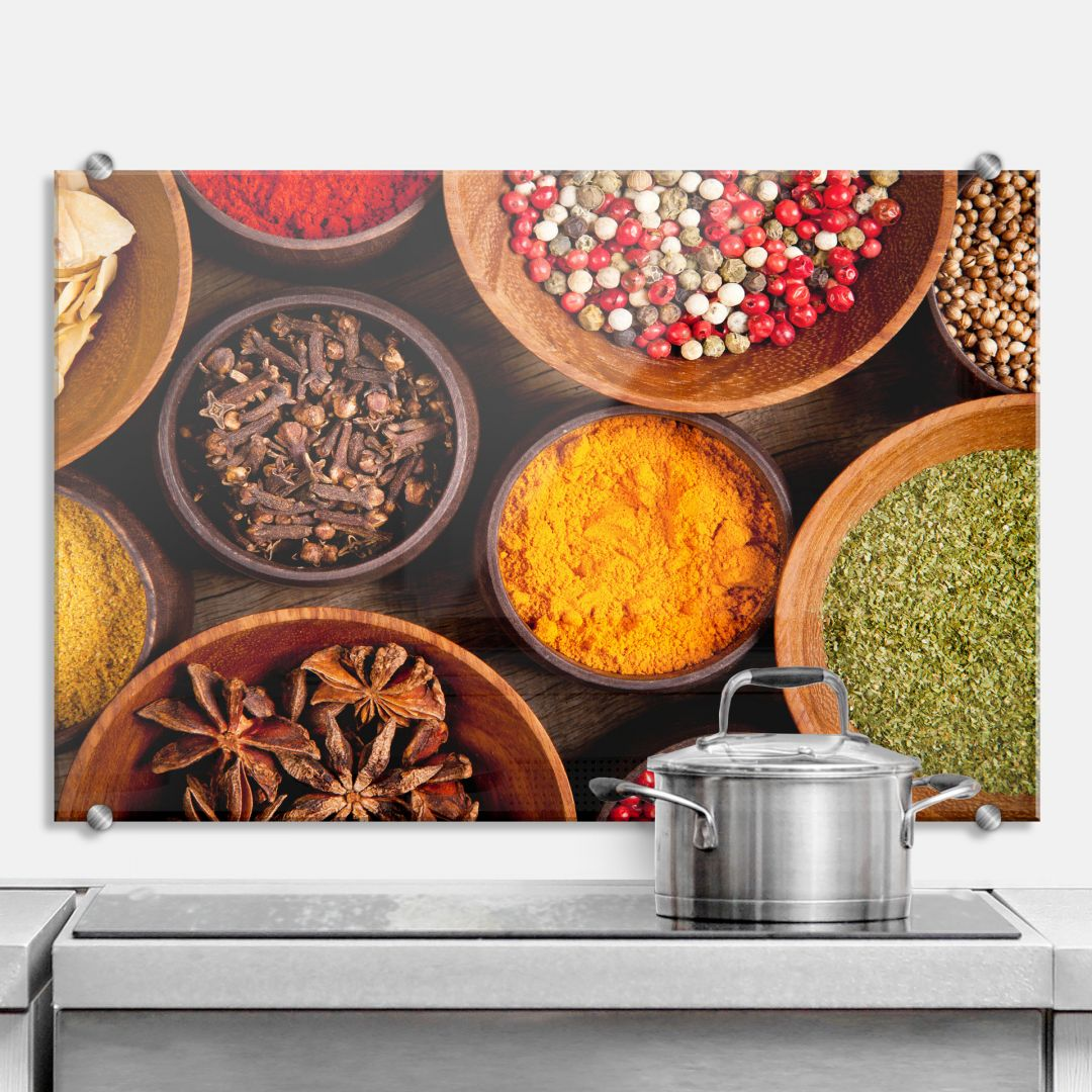 Spices - Kitchen Splashback
