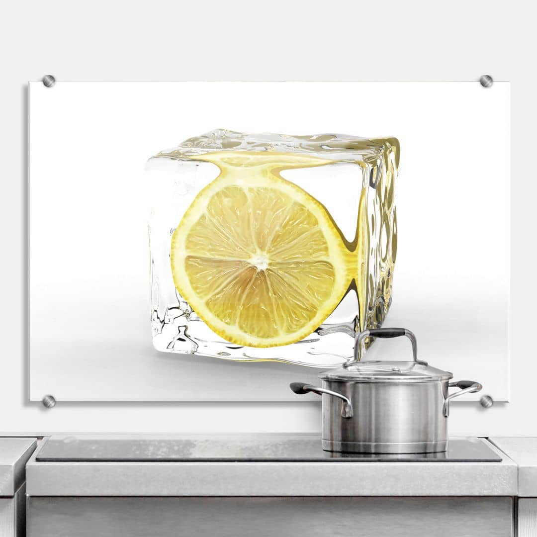 Lemon Ice Cube - Kitchen Splashback
