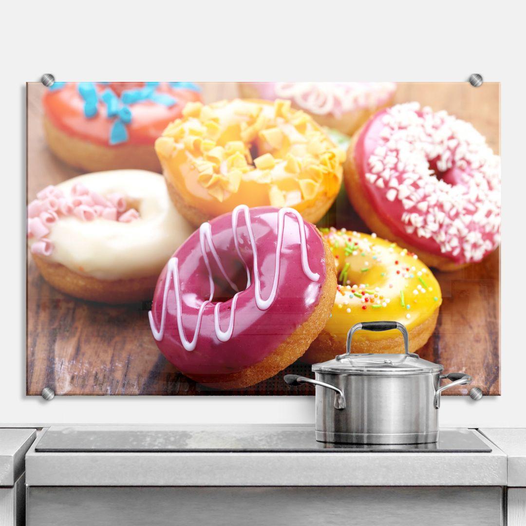 Spritzschutz Zuckersüße Donuts