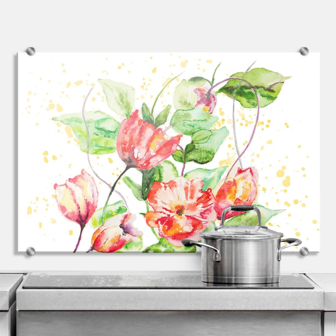 spritzschutz toetzke gartenblumen wall. Black Bedroom Furniture Sets. Home Design Ideas