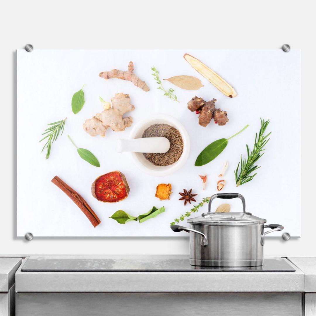 Spritzschutz Küchenkräuter