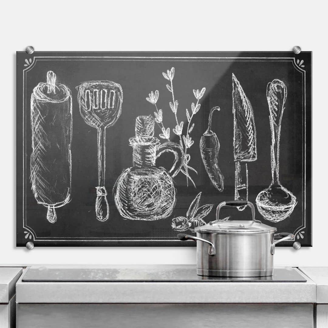 Spatscherm Rustic Kitchen