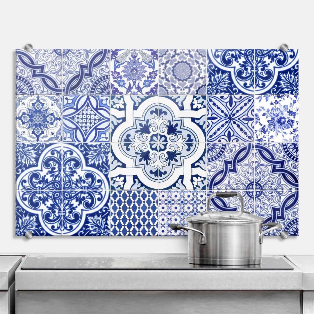 spritzschutz portugiesische kacheln wall. Black Bedroom Furniture Sets. Home Design Ideas