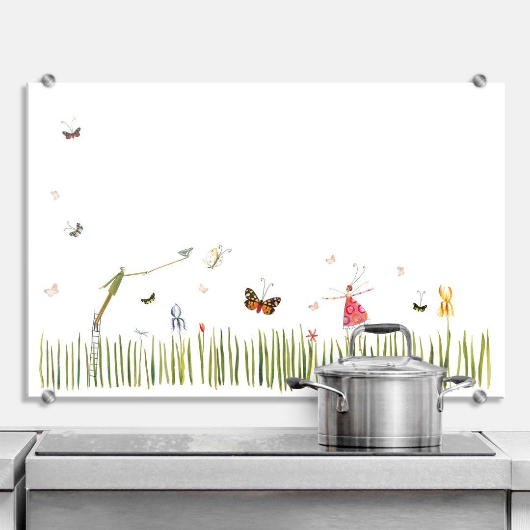 Spritzschutz Leffler - Schmetterlinge