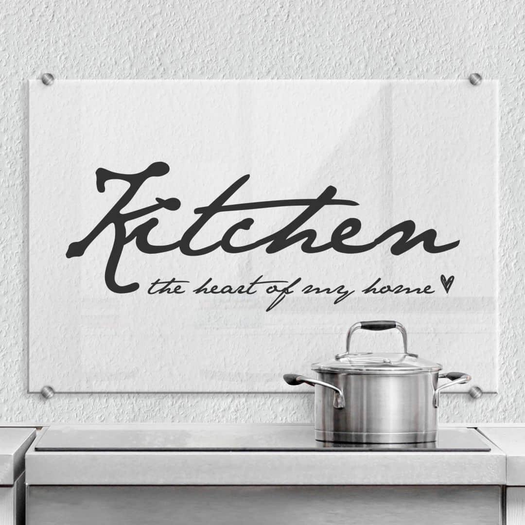 Spatscherm Kitchen the heart of my home