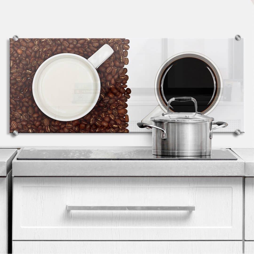 Spritzschutz Lavsen - White Espresso - Panorama