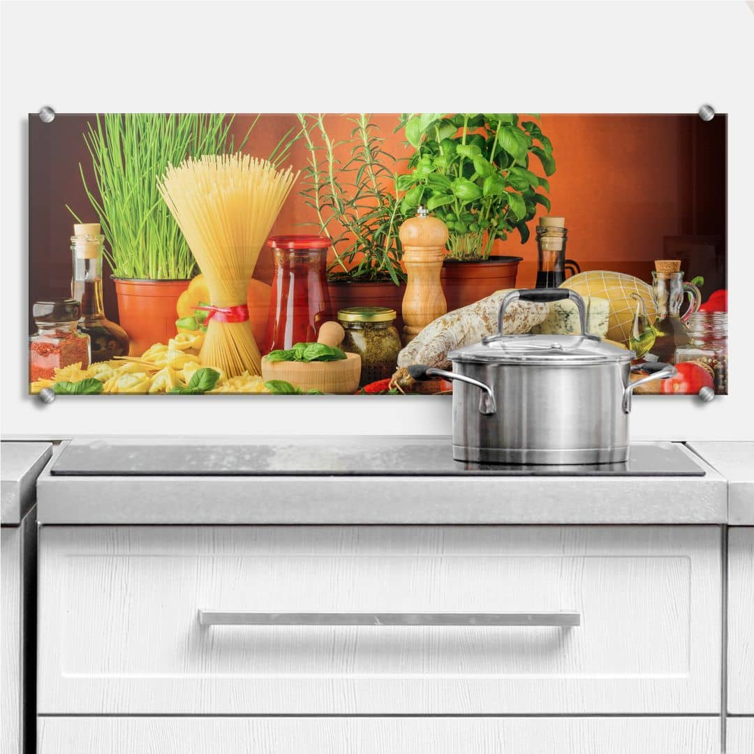 Italian Cooking - Panorama - Kitchen Splashback