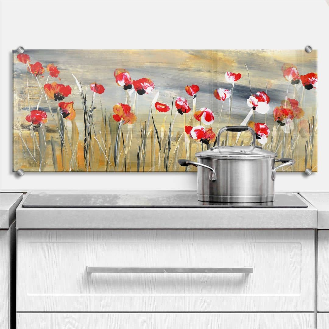 Niksic - Flower Field - Panorama - Kitchen Splashback