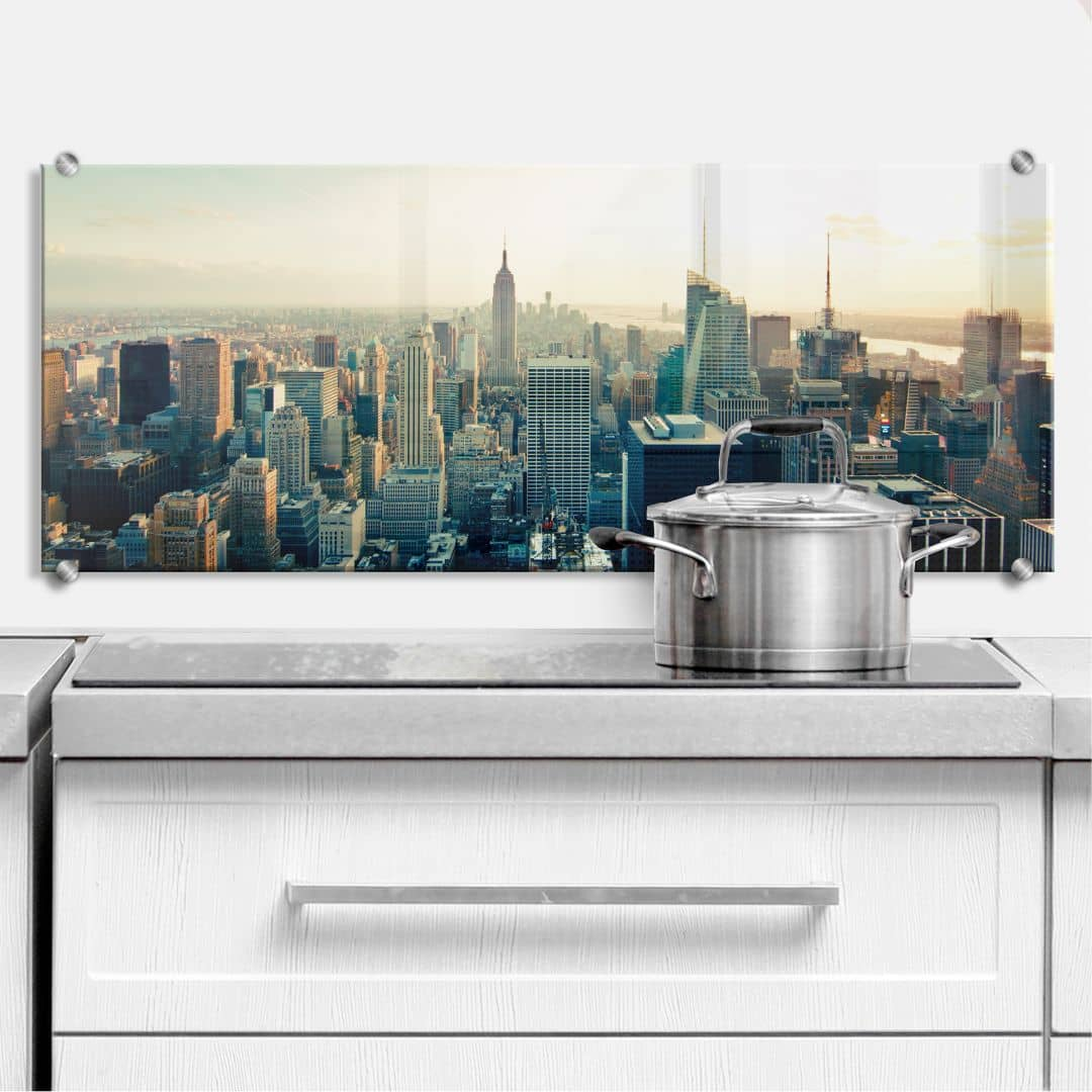 Spritzschutz Skyline von New York City - Panorama | wall-art.de