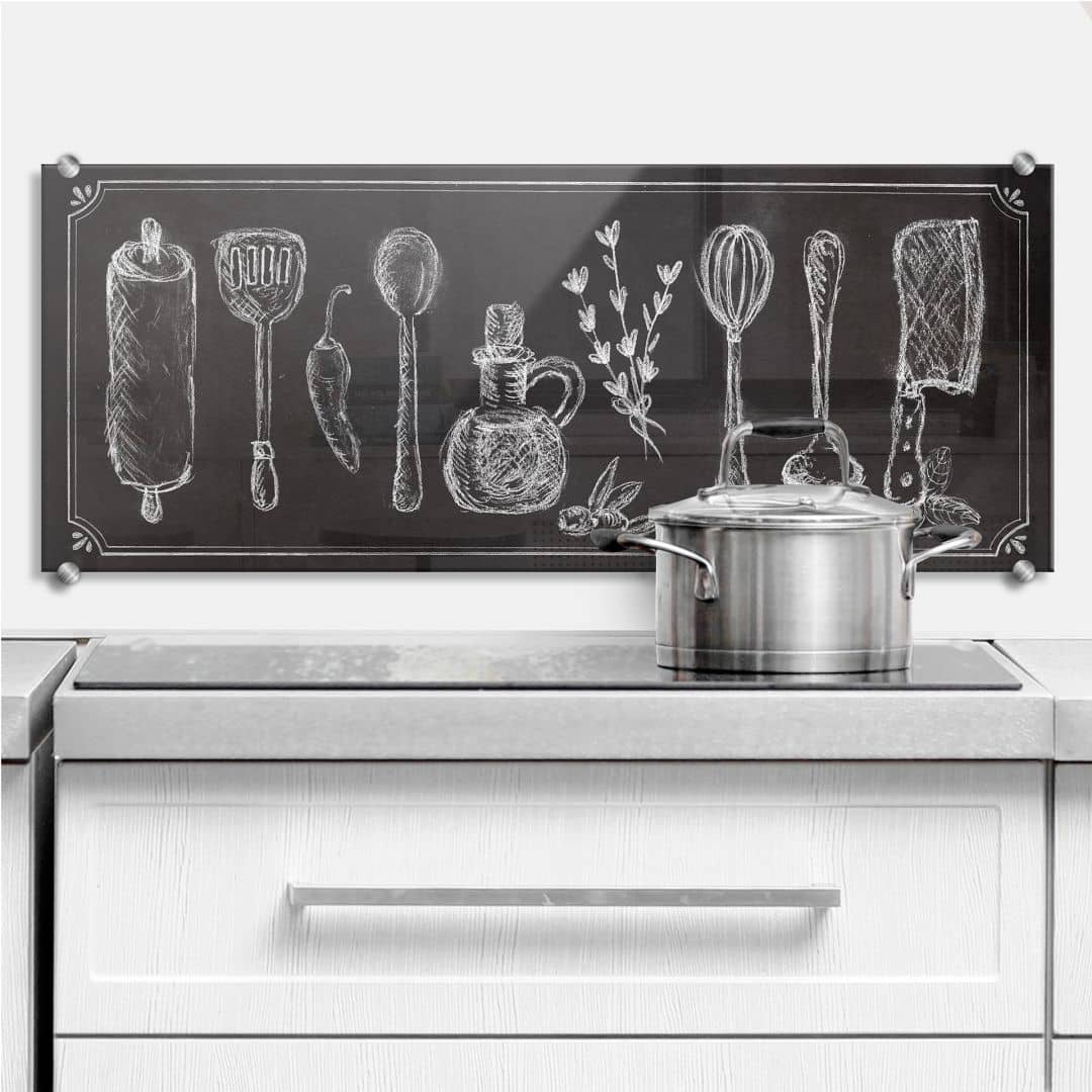Spatscherm Rustic Kitchen - Panorama