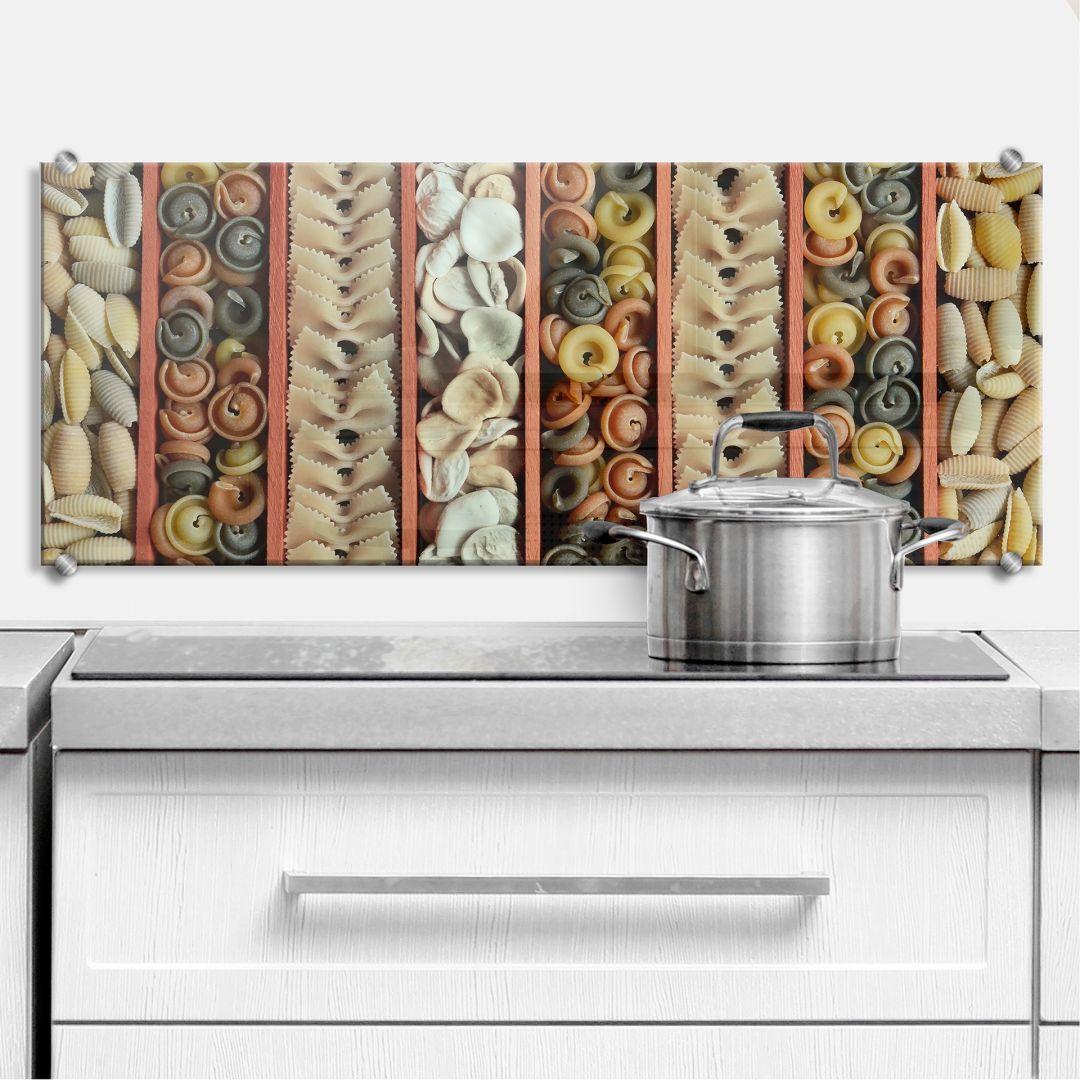 spritzschutz pasta collection panorama wall. Black Bedroom Furniture Sets. Home Design Ideas