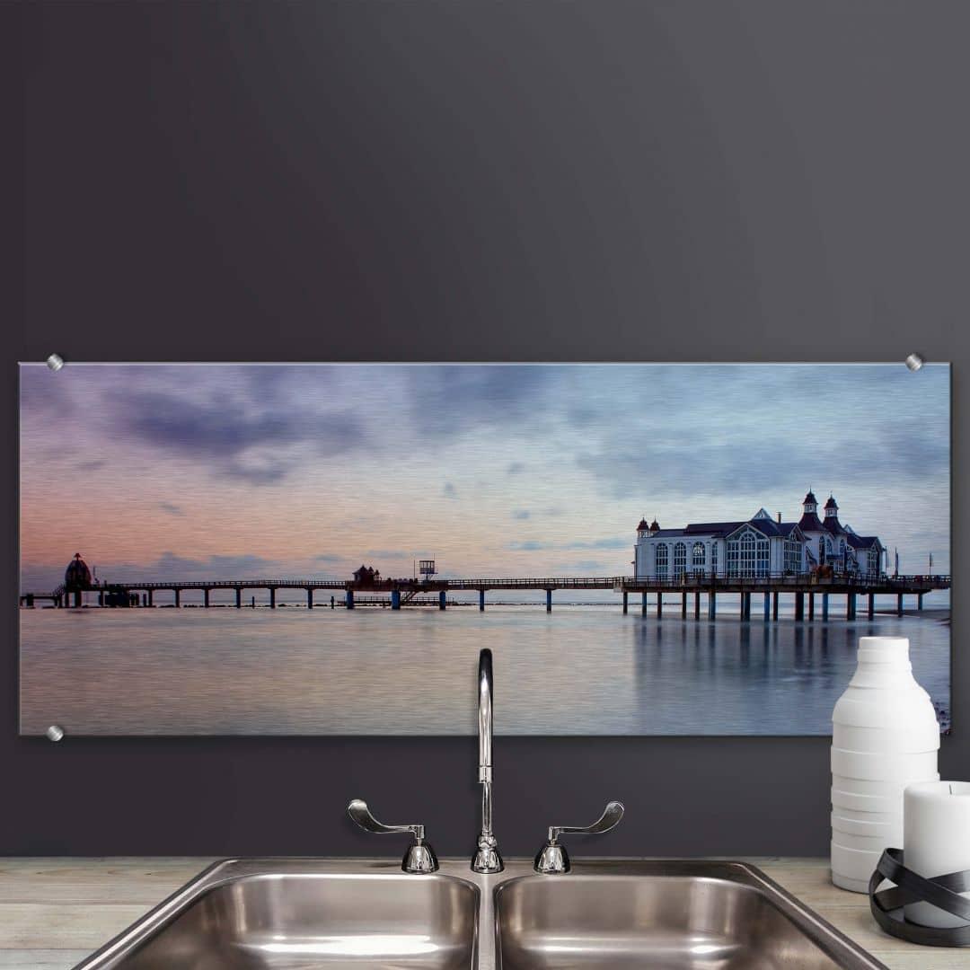 spatscherm alu dibond brug sellin panorama. Black Bedroom Furniture Sets. Home Design Ideas
