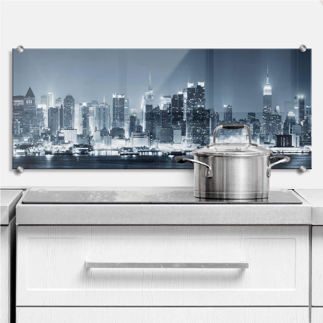 New York at Night 1 - Kitchen Splashback