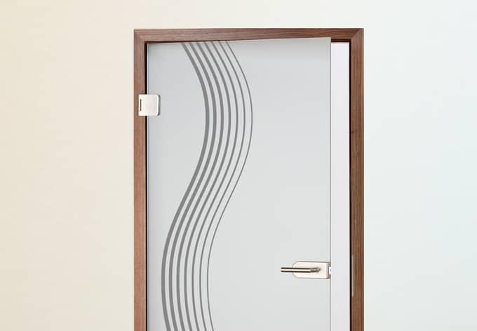 poster de porte wave. Black Bedroom Furniture Sets. Home Design Ideas