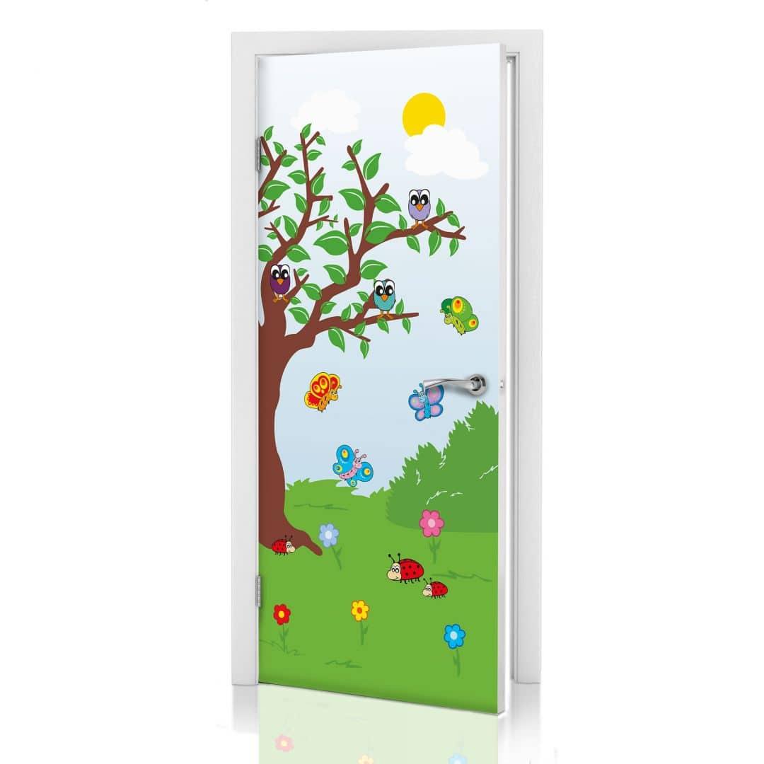 Adesivi per porte il giardino dei bambini - Pellicole adesive per porte ...