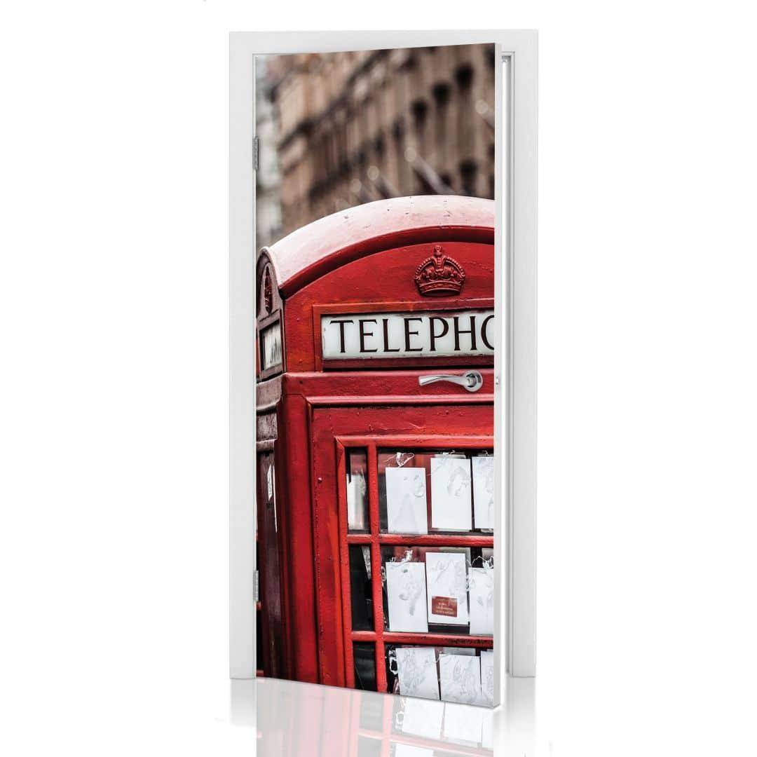 Poster de porte cabine t l phonique anglaise wall - Meuble cabine telephonique anglaise ...
