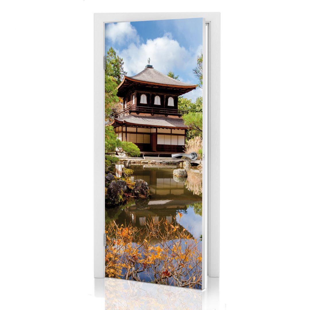 Deursticker Japanse Tempel 2