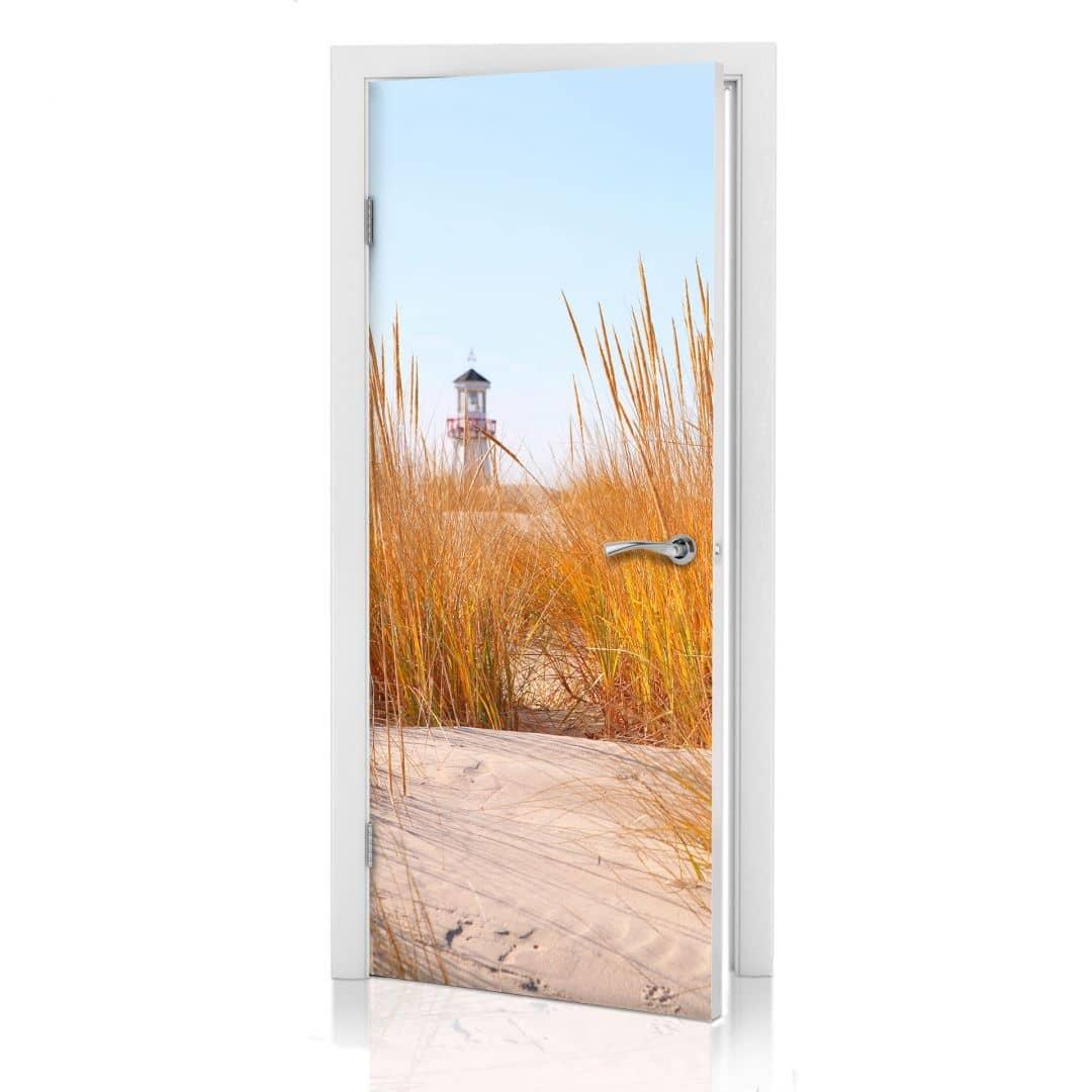 Adesivi per porte faro sulla spiaggia - Pellicole adesive per porte ...