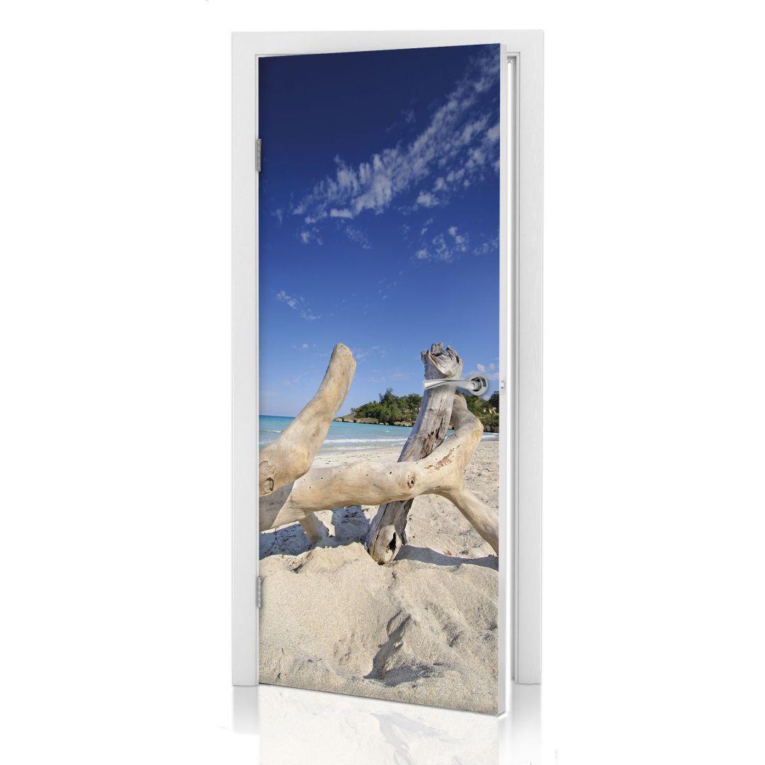 Adesivi per porte tronco sulla spiaggia - Pellicole adesive per porte ...
