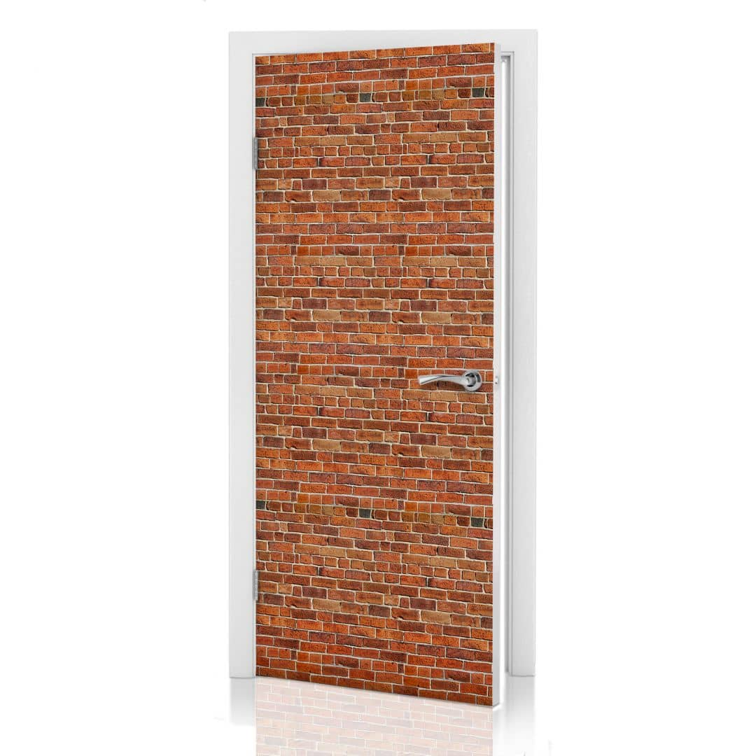 Adesivi per porte muro di mattoni - Pellicole adesive per porte ...