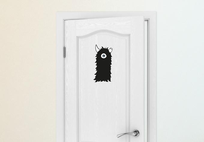 Wandtattoo Türspion Albrecht