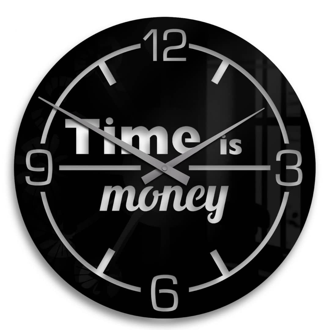 Acrylic Wall Clock Time is Money