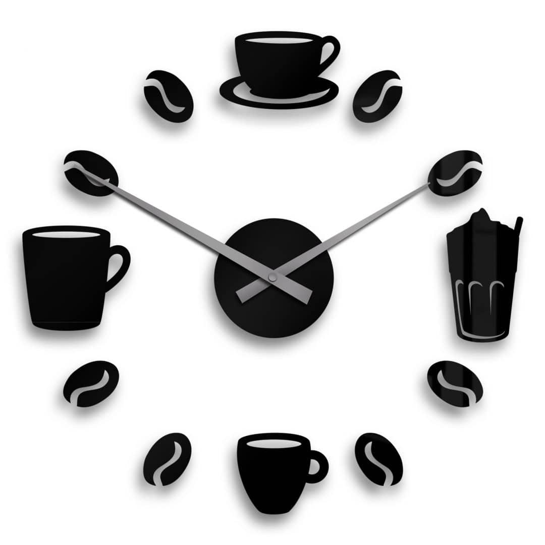 Wanduhr Coffee Time inkl. 18 Klebepads
