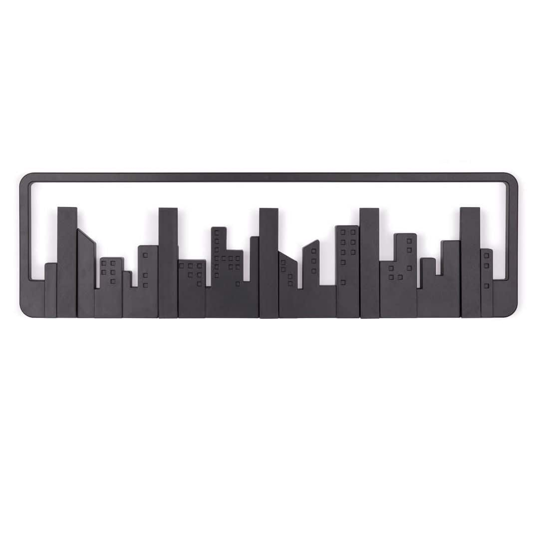 Design Coat Rack Skyline - black