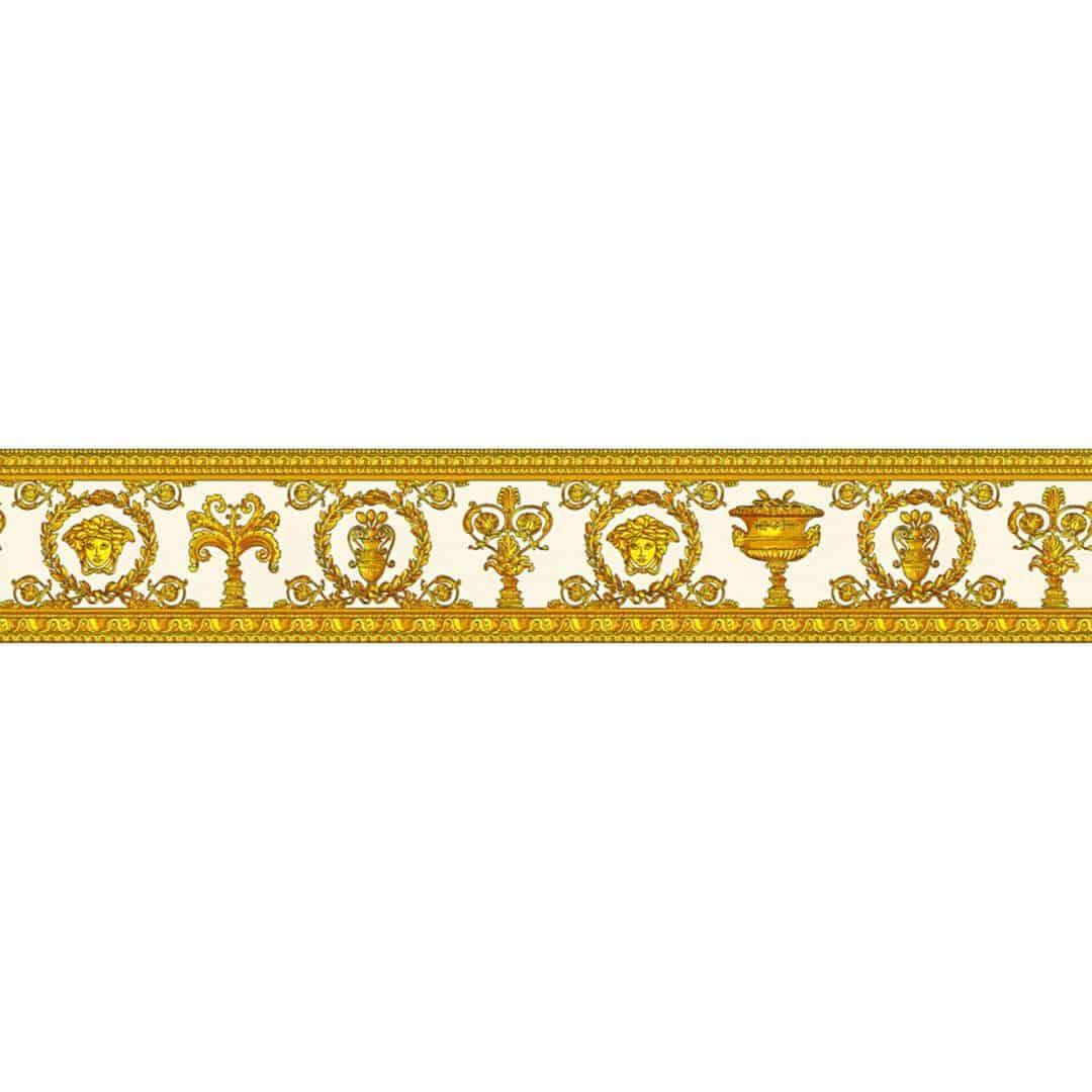 Bordo decorativo versace vanitas arancione wall for Bordi decorativi per pareti