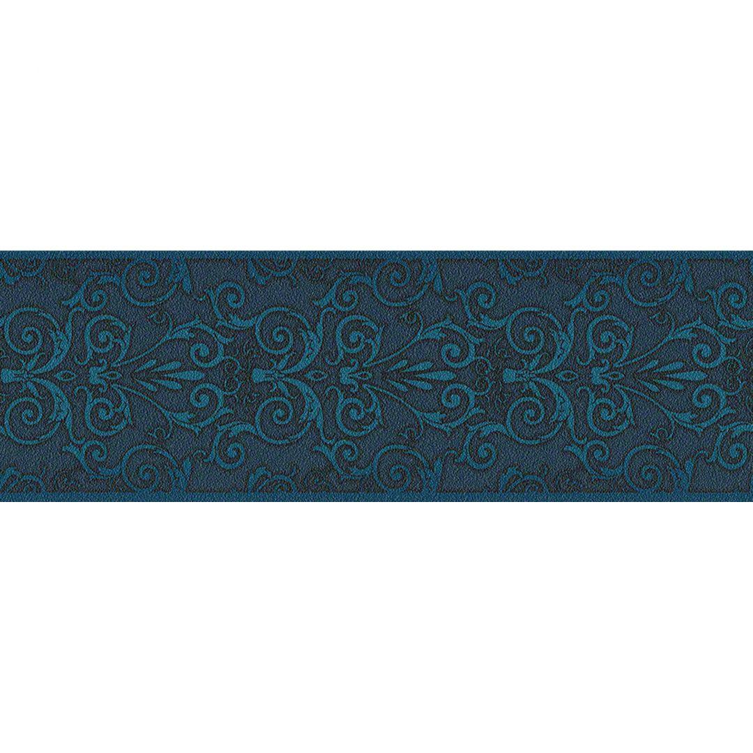 Bordo decorativo versace wallpaper herald colore azzurro for Bordi decorativi per pareti