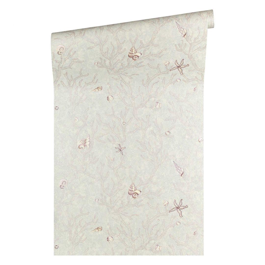 Versace wallpaper tapete les etoiles de la mer grau metallic lila 344964 wall - Muster tapete lila grau ...