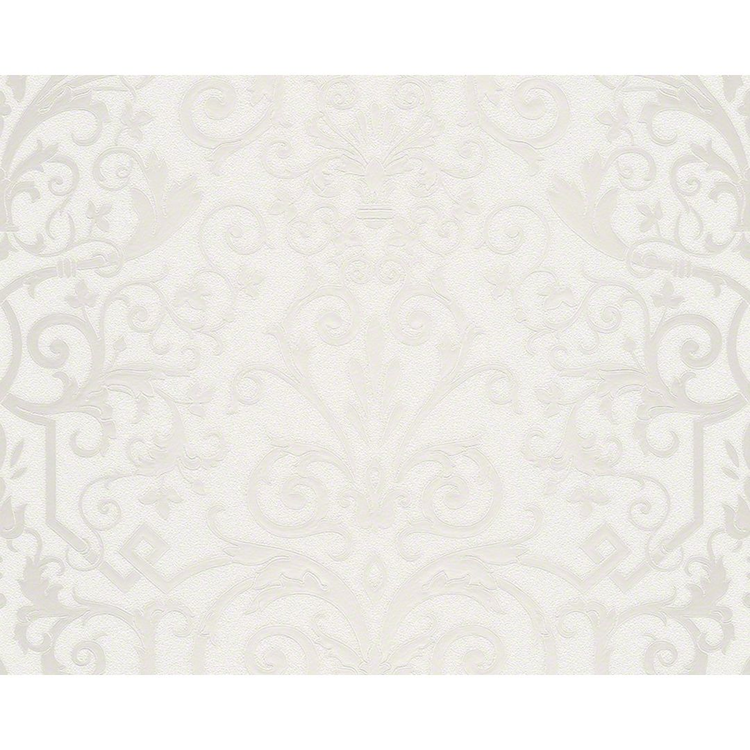 Versace wallpaper carta da parati herald colore grigio for Carta da parati lettere