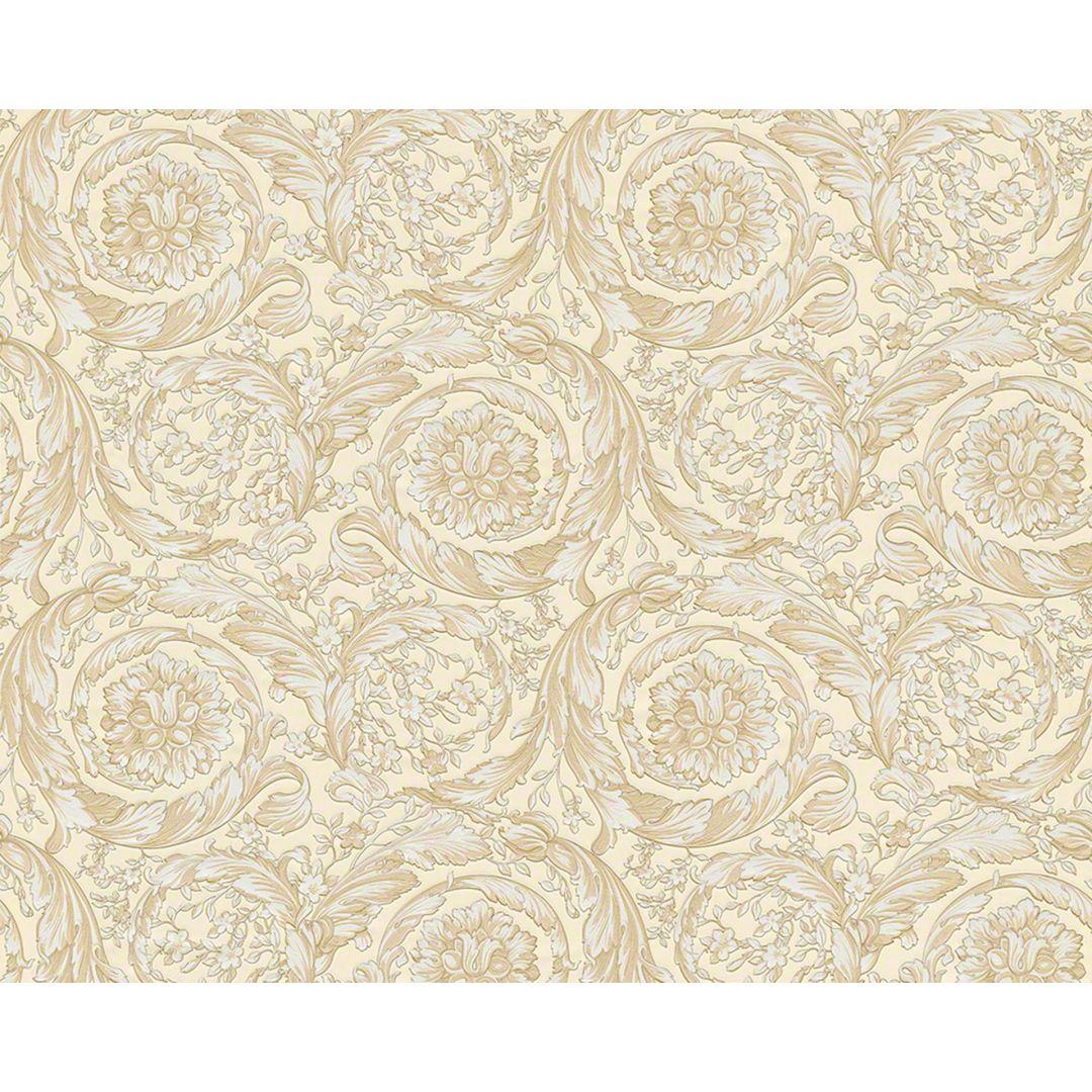 Versace wallpaper carta da parati barocco flowers colore for Carta da parati beige