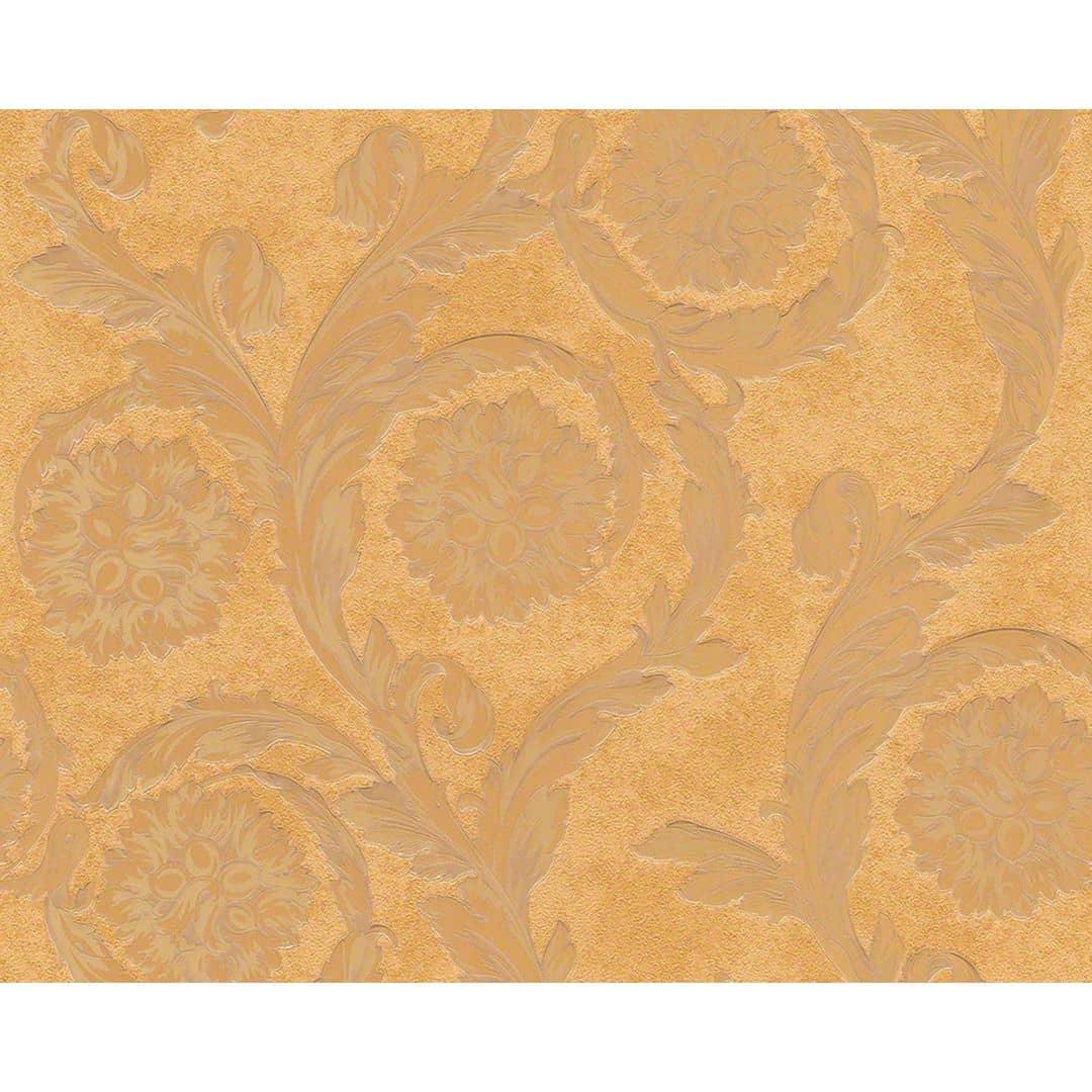 papier peint versace wallpaper barocco flowers marron. Black Bedroom Furniture Sets. Home Design Ideas