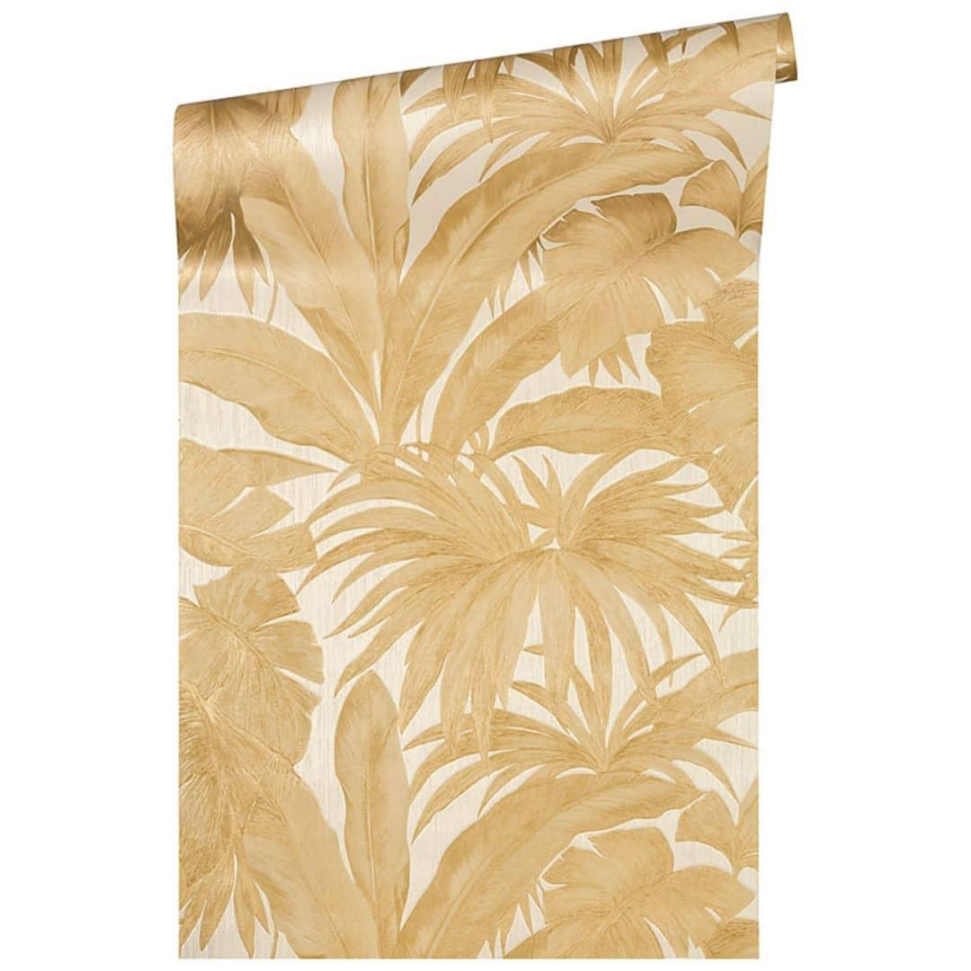 Versace wallpaper non-woven wallpaper Giungla cream, metallic