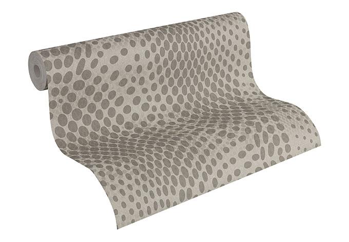 A s cr ation mustertapete tapete fleece royal 961853 grau for Fleece tapete