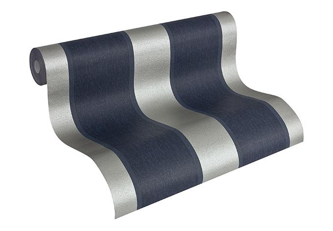 A s cr ation mustertapete tapete fleece royal 961865 blau for Fleece tapete