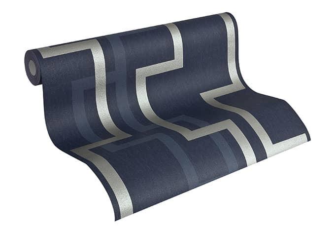 A s cr ation mustertapete tapete fleece royal 961882 blau for Fleece tapete