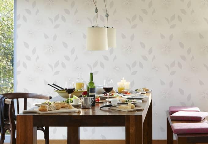 sch ner wohnen vliestapete beige creme wei wall. Black Bedroom Furniture Sets. Home Design Ideas