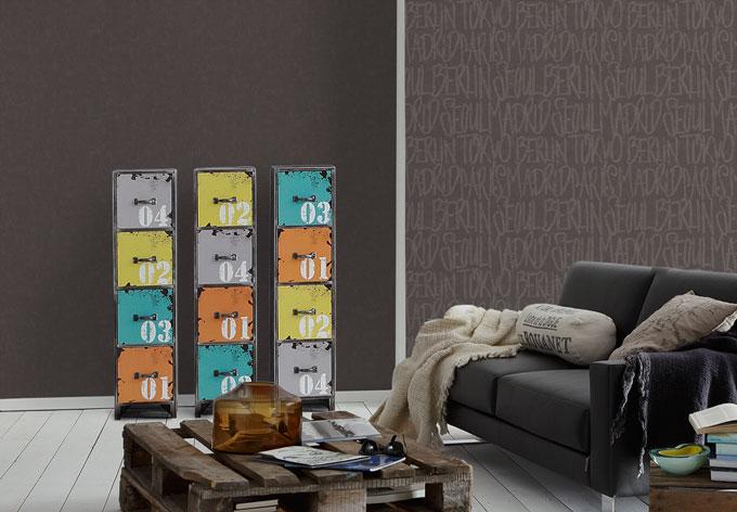 sch ner wohnen vliestapete schwarz wall. Black Bedroom Furniture Sets. Home Design Ideas