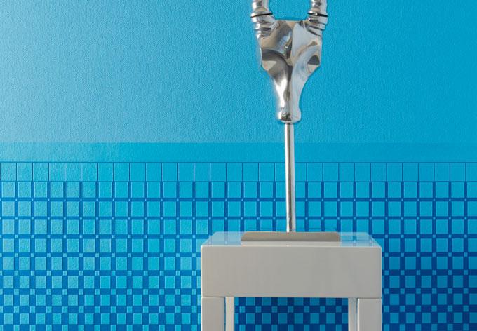 Mustertapete Architects Paper überstreichbare Vliestapete Pigment Frise Weiß, überstreichbar