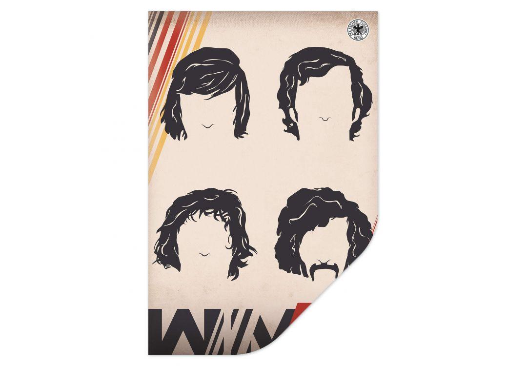 Wallprint DFB - Deutsche Weltmeister 1974