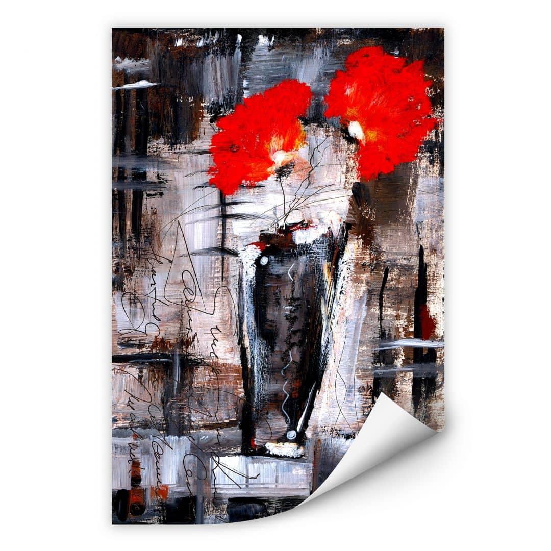 Wallprint W - Niksic - Leuchtend Rot