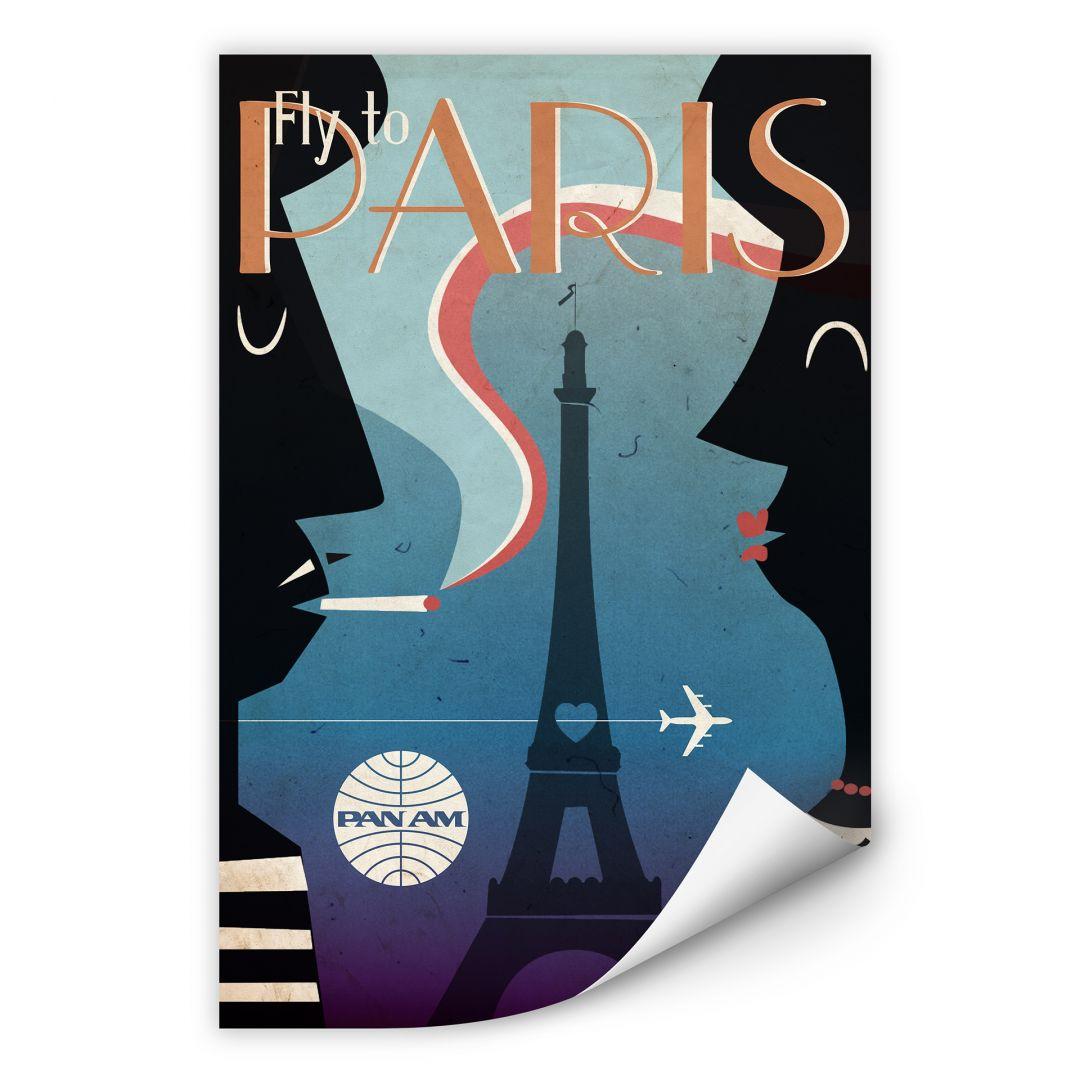 Wallprint PAN AM - Fly to Paris