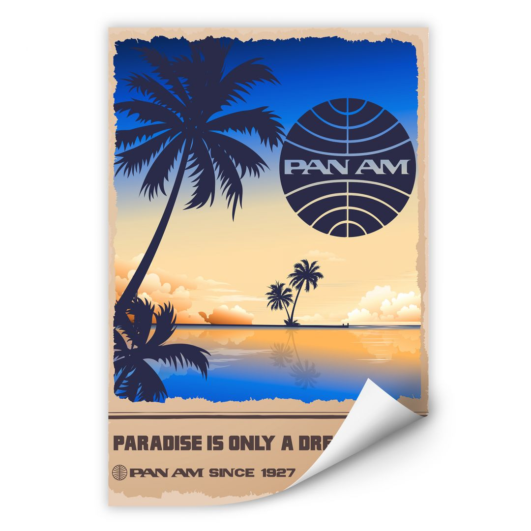 Wallprint PAN AM - Dreams in Paradise
